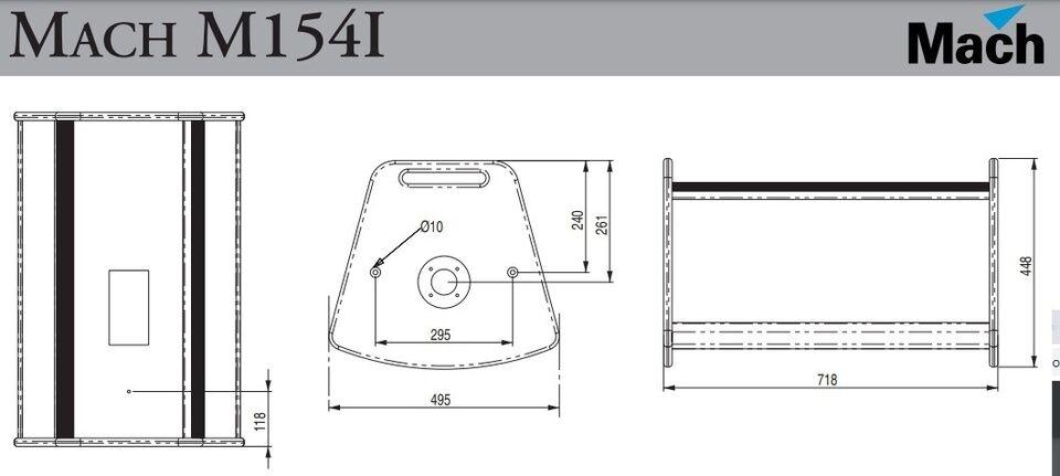 Højtalere, Mach M154i