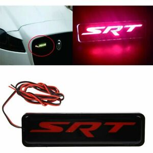 FOR DODGE SRT4//SRT8//10 METAL BUMPER TRUNK GRILL EMBLEM DECAL STICKER BADGE RED