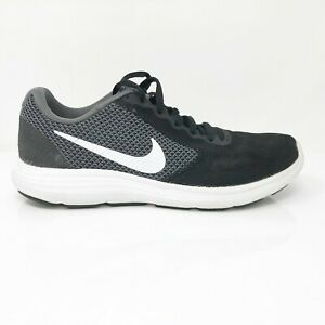 Nike-Mens-Revolution-3-819300-001-Black-Running-Shoes-Lace-Up-Low-Top-Size-8