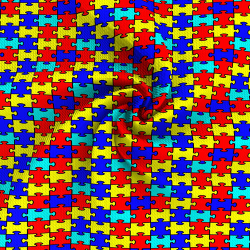 Autism Awareness Printed Liverpool Fabric,Patchwork Knit Fabric By the Yard