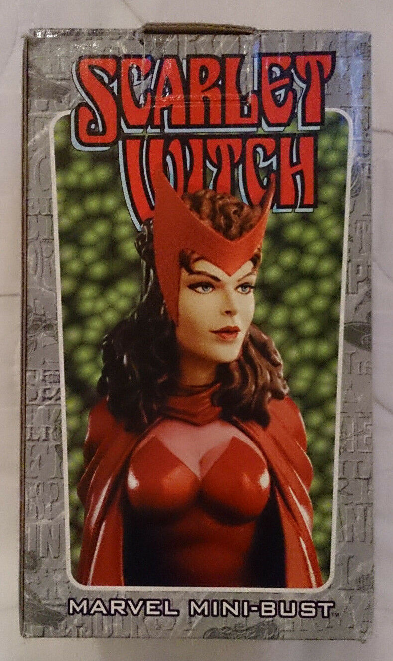 Marvel Comics Bowen Avengers Scarlet Witch mini bust/statue with box