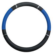 Couvre Volant  ø 37-39 cm ,Simili Cuir Noir et Bleu pour Opel Corsa - 303