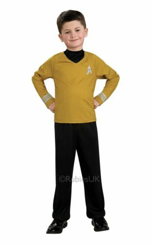 Boys Captain Kirk Costume Star Trek Fancy Dress Outfit