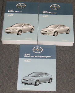 2005 toyota scion tc service repair manual set ebay rh ebay com 2005 scion tc parts manual 2005 scion tc parts manual