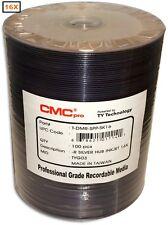 100-Pak CMC PRO (TY Technology) Silver Inkjet Hub 16X DVD-R's in Tapewrap