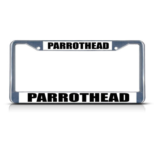 PARROT HEAD PARROT HEAD  Chrome Heavy Duty Metal License Plate Frame