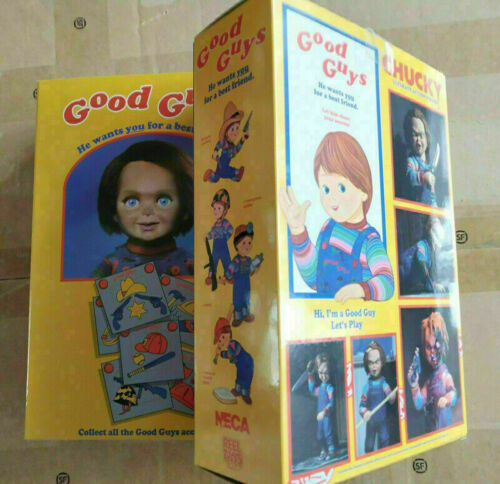 NECA Scary Chucky Figure Toys Horror Movies Child/'s Play Bride of Horror Doll UK