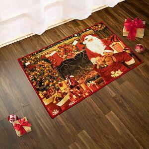 Lochas Christmas Area Rug Santa Claus Doormat For Living Room Bedroom Kitchen Ebay