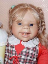 Künstlerpuppe Puppe Doll  LOTTA  ALS SCHULKIND Schildkröt Evelyn Leman