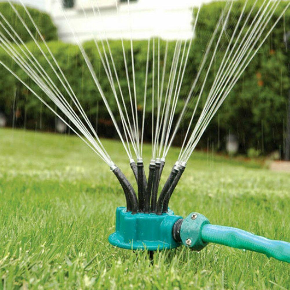 Gartenregner Automatische Bewässerung Rasen 360 ° drehbarer Regner 5 Düsen HH