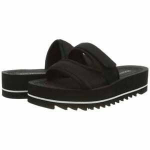 Rocket-Dog-Manto-Womens-Girls-Slip-On-Open-Toe-Slide-Slider-Sandal-Black-Size