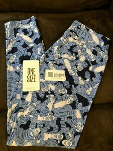9133d335be55a5 LuLaRoe DISNEY OS/One size Leggings TIGGER Winnie the pooh Blue and ...