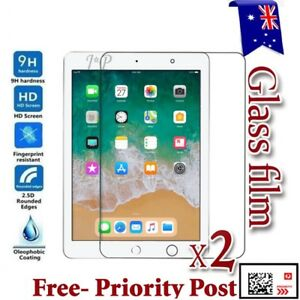 huge selection of 5af93 0943e Details about 2X Apple New iPad 9.7 / Air 1 2 Tempered Glass / Plastic  Screen Protector Film
