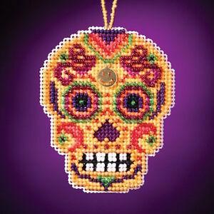 10/% Off Mill Hill Amarillo Calavera Charmed Ornaments X-stitch//Bead Kit