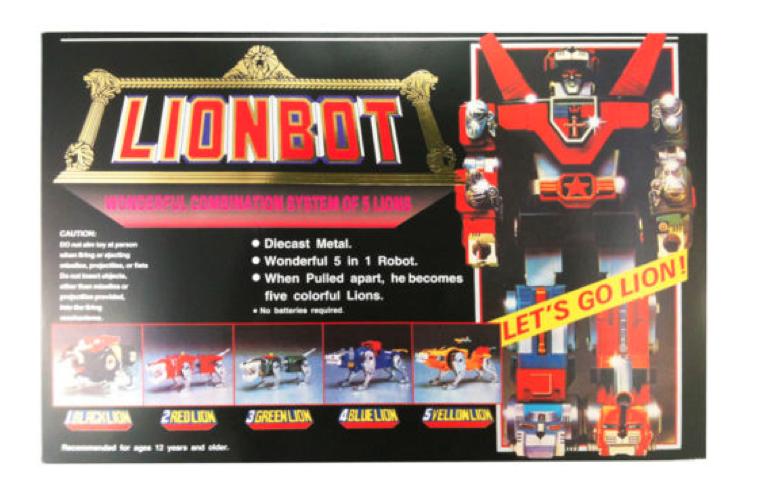 (Fast)  Voltron Defender Of The Universe Golion Lionbot 1980 DIE CAST Taiwan Ver  venez choisir votre propre style sportif