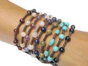 Handcrafted-Turquoise-BEAD-Gemstone-Fair-Trade-Jewelry-Thai-Wristband-Bracelet