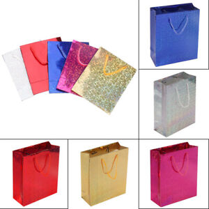 6 Pack Various Shiny Holographic Foil Paper Present Gift