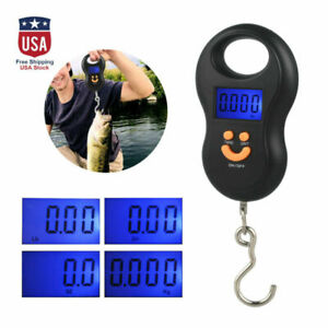 Digital-Fish-Scale-Postal-Hanging-Hook-Luggage-Weight-LCD-Mini-Portable-110-lb