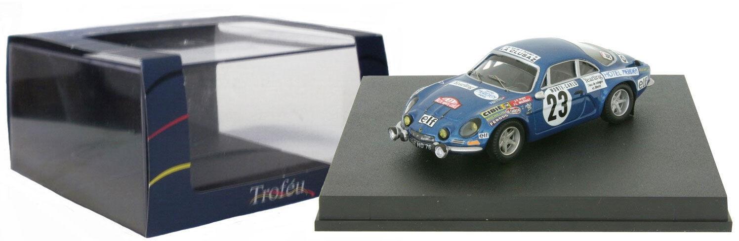 Trofeu 842 Alpine Renault A110 1600 S Monte Carlo 1973 - J F Piot 1 43 Scale