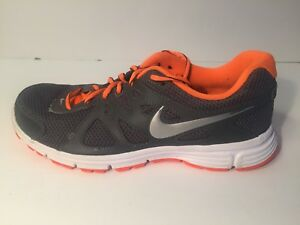 promo code 663bc 0e47d Image is loading Nike-Men-039-s-Revolution-2-Gray-Orange-