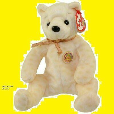 BBOM October 2003 MWMTs Stuffed Toy TY Beanie Baby 8 inch POPCORN the Bear