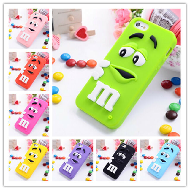 Cute 3D Cartoon Chocolate Soft Silicone Gel Back Cover Case For Various Phones