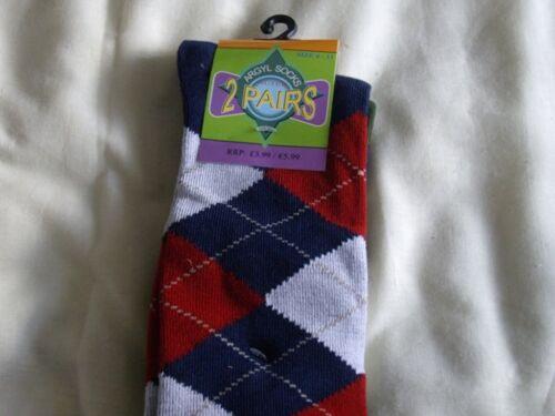 Mens Argyle socks twin packs