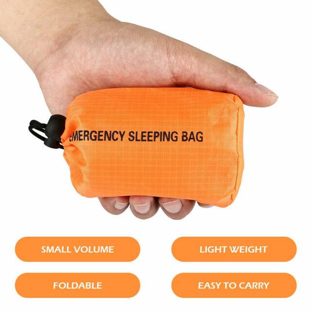 Outdoor Emergency Thermal Waterproof Sleeping Bag Camping Survival Bivvy Sack AU
