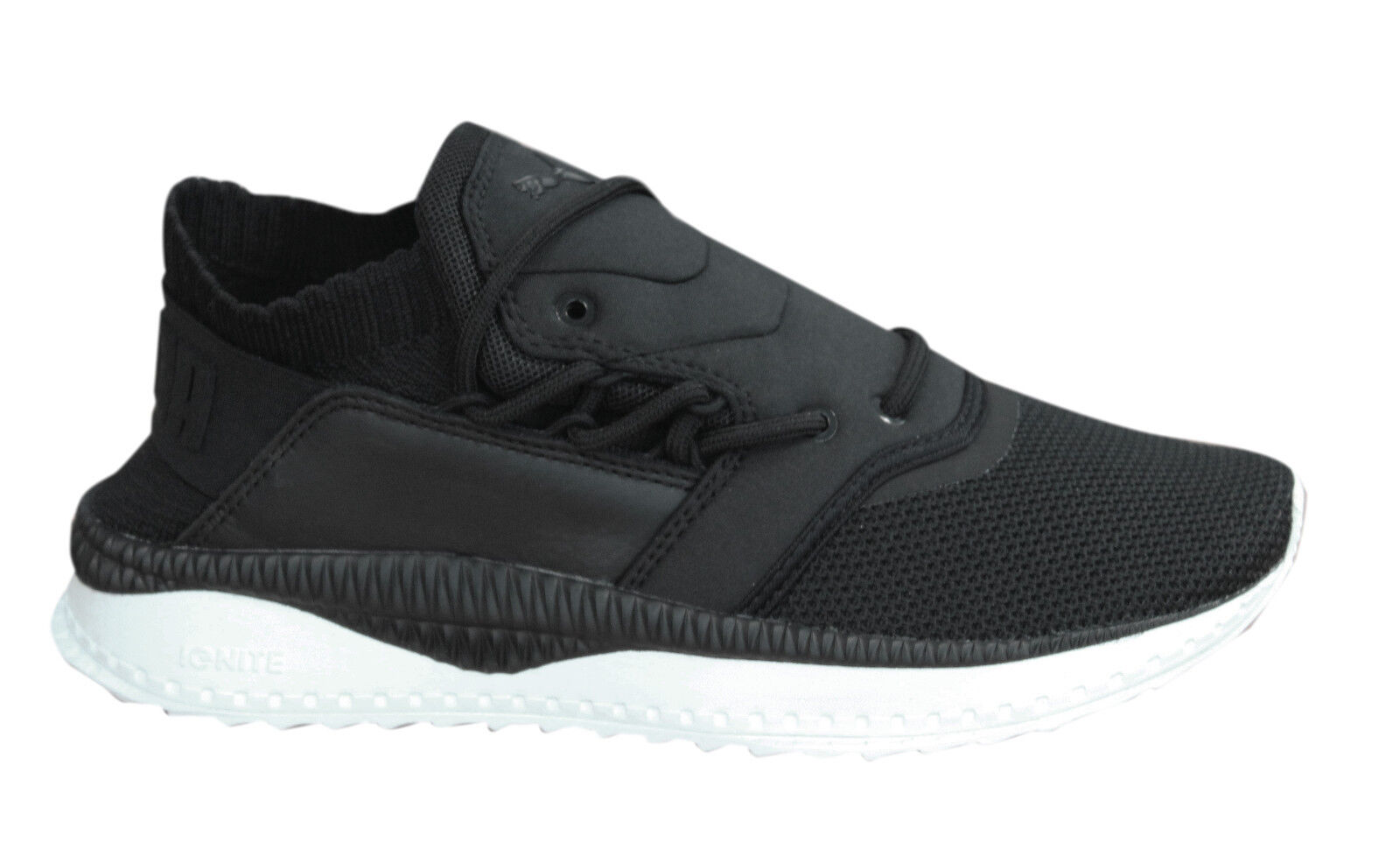 Puma TSUGI Shinsei Lace Up Black Textile Mens Trainers Shoes 363759 01 M14