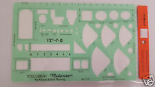 NOS Timely Template Stencil T-33 For Kitchen and Bath Planning