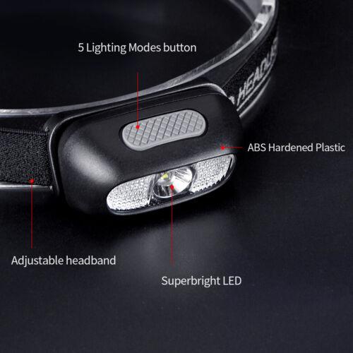 500 Lumens Red White Light Rechargeable LED Headlamp Flashlight Lamp Head Lights