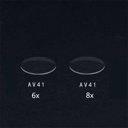 Pro 6X 8X Sight Magnifying Glass Hard resin lens 2mm*3.5cm For AV41 Bow sight