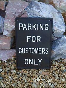 """Fonte Plaque """"parking Pour Les Clients Uniquement"""" En Métal Signe/no/home/parking-afficher Le Titre D'origine P9g6hwsv-07224733-792998512"""