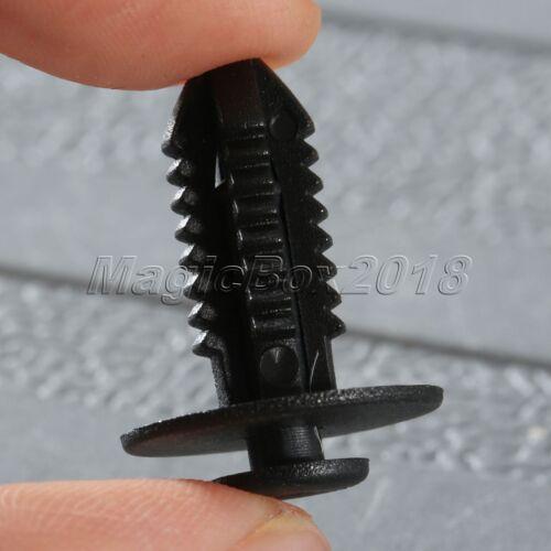 50PCS Plastic Screw Fastener Car Door Trim Fender Push Rivets Retainer Clips 7MM