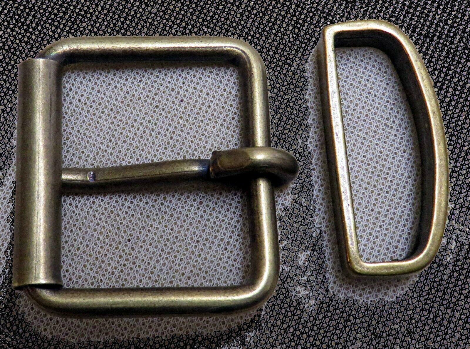 GÜRTELSCHNALLE inkl. SCHLAUFE für 3,5cm breite GÜRTEL Rollschnalle METALL Top #