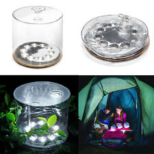 Inflatable Solar Power Lantern 10LED Light Garden Festival Camping Tent Light