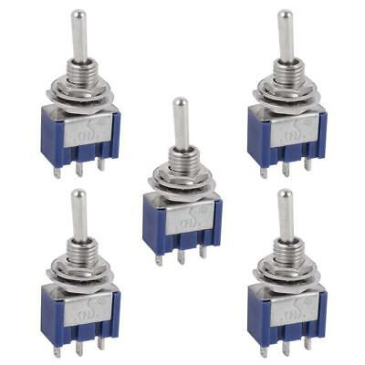 2 Pcs AC 125V 6A ON//ON 2 Position SPDT 3 Pins Mini Toggle Switch with Waterpr FP