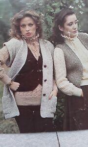 Vintage-Poppleton-Waistcoat-Sweater-Jumper-Knitting-Pattern-34-38-034-DK-no-1490