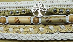 FB26 set of 5 tree of life neutral surf friendship adjustable cotton bracelets