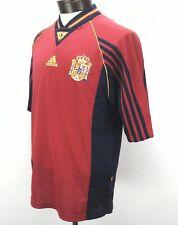 Adidas Mens Espana Spain RFEF Jersey Top T Shirt Medium Made in Portugal EUC