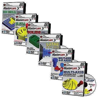 MASTERCAM X8-X9 2D & 3D MILL, LATHE, SOLIDS & MULTIAXIS