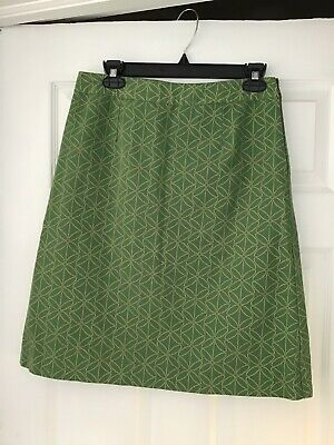 Skirts Women's Clothing Boden Green & Yellow Floral Fully Lined Skirt Size 10r Can Be Repeatedly Remolded.