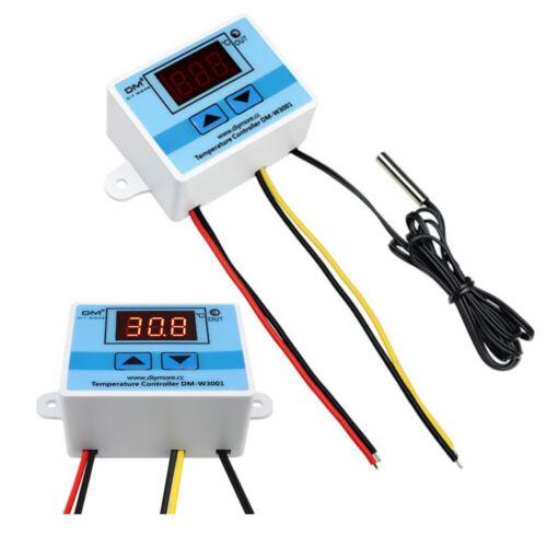 W3001 220V 1500W Digital LED Thermostat Temperature Control Sensor Probe Cable