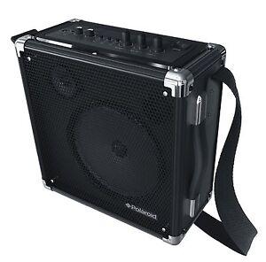 polaroid wireless pa amplifier speaker for mic guitar with bluetooth pbt3003bk ebay. Black Bedroom Furniture Sets. Home Design Ideas