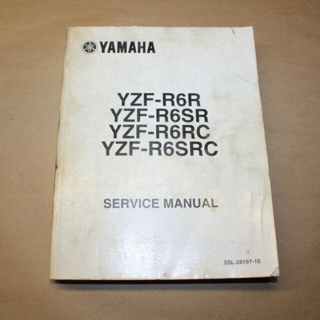 Yamaha Yzf Sr  Rcsrc Factory Service Manual Repair Book