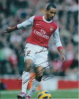 Theo WALCOTT Arsenal SIGNED Autograph 10x8 Photo AFTAL Authentic