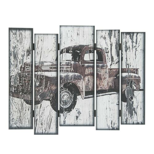 USA XL Camion Pickup GMC FORD holzschild 50x40x1 cm planches Design