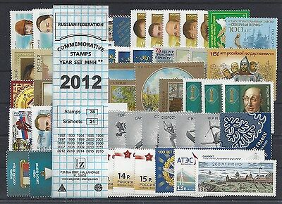 RUSSIA 2012 COMMEMORATIVE YEAR SET MNH (see two scans)