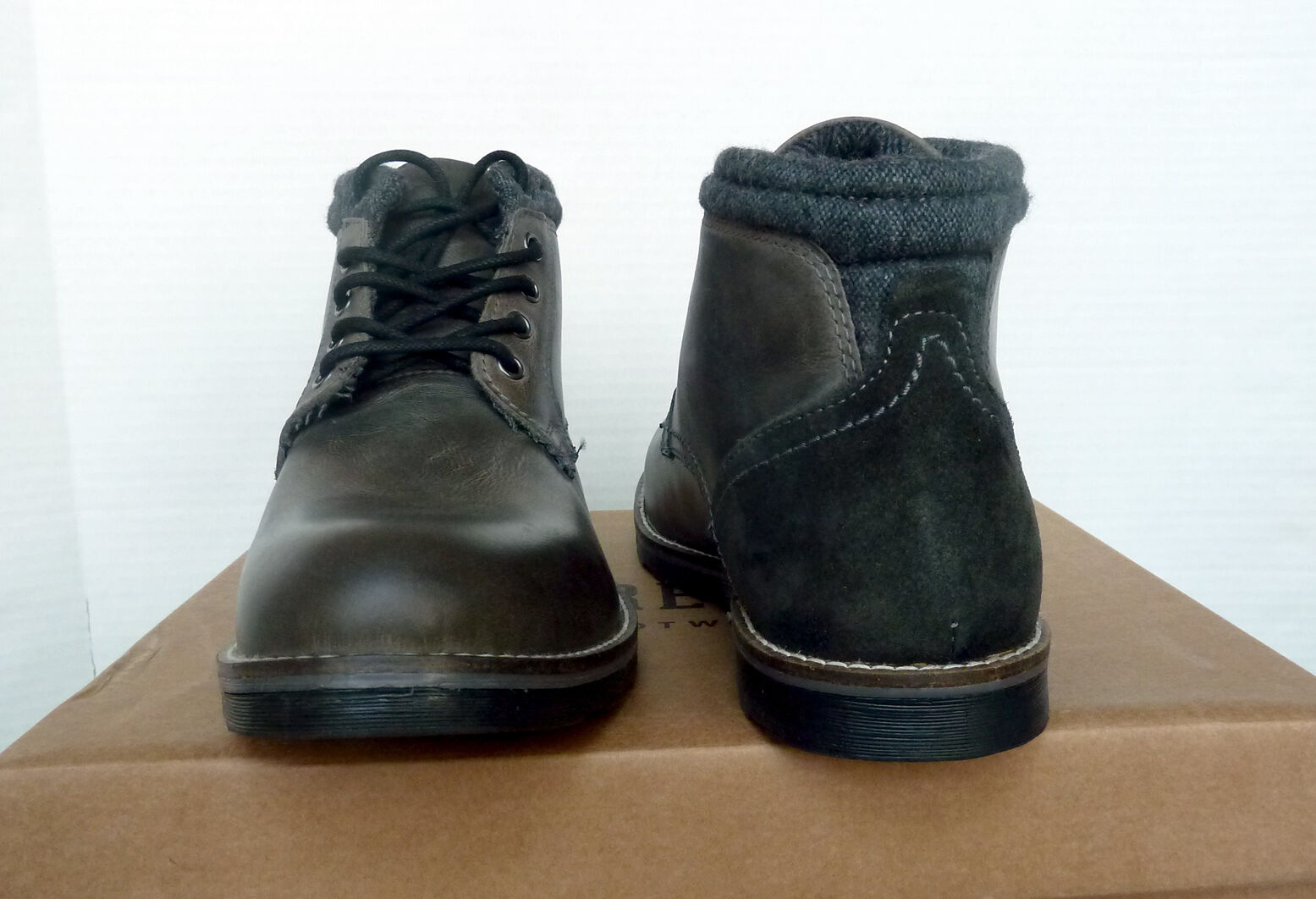 New Uomo`s Crevo Geoff Grigio Leather Boots CV1423-020 CV1423-020 Boots ed7d49