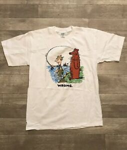 90s-Vintage-Hallmark-Shoebox-Greetings-Fishing-Fisherman-Bear-Funny-Humor-TShirt